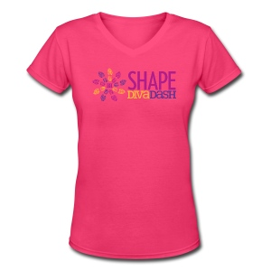 Diva Dash Logo V Neck - Women's V-Neck T-Shirt