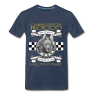 T-Shirts ~ Men's Premium T-Shirt ~ K9 Rocco Memorial T Shirt. larger sizes.