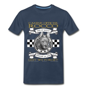 K9 Rocco Memorial T Shirt. larger sizes. - Men's Premium T-Shirt