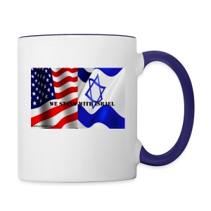 We stand with Israel. - Contrast Coffee Mug