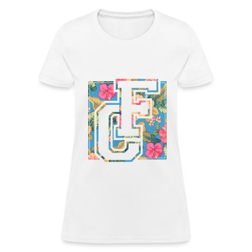 F-ORT Floral Varsity Logo Womens T-Shirt - Women's T-Shirt