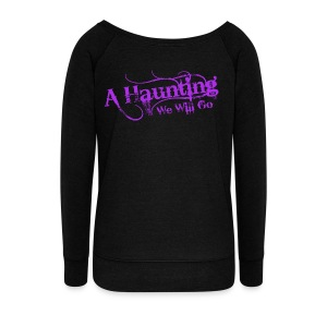 AHWWG Purple Logo - Women's Wideneck Sweatshirt