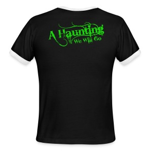 AHWWG green Logo - Men's Ringer T-Shirt