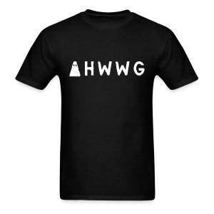 AHWWG White Logo Double Sided - Men's T-Shirt
