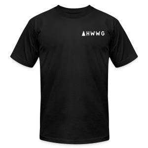 AHWWG White Logo Double Sided 2 - Men's T-Shirt by American Apparel