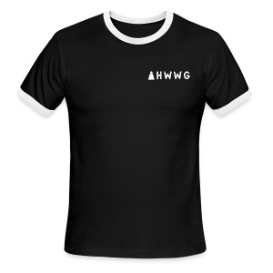 AHWWG White Logo Double Sided 2 - Men's Ringer T-Shirt
