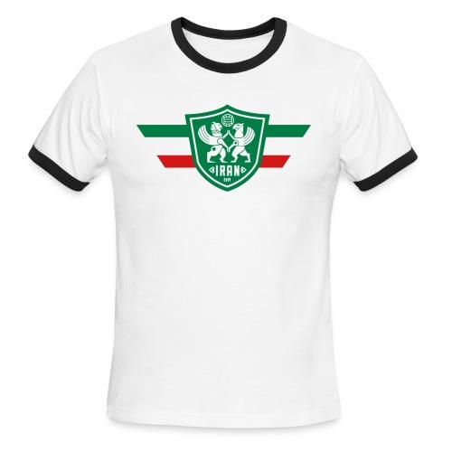 Iran Flag - Men's Ringer - Men's Ringer T-Shirt