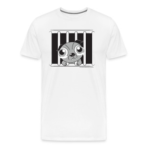 Inside there's a softie - Men's Premium T-Shirt