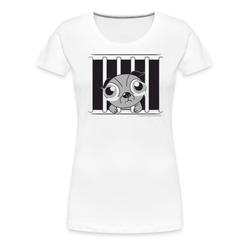Inside there's a softie - Women's Premium T-Shirt