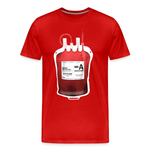 Blood Type Awesome - Men's Premium T-Shirt
