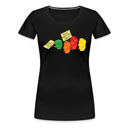 Stop Gummibear Cruelty - Women's Premium T-Shirt