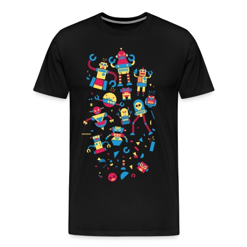 Angrrry Robots - Men's Premium T-Shirt