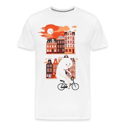 Happy Ghost Biking - Men's Premium T-Shirt