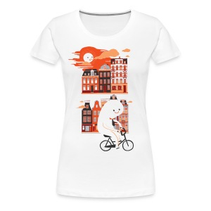 Happy Ghost Biking - Women's Premium T-Shirt