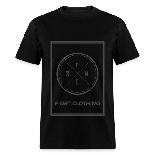 F-ORT BIG BOX LOGO GRAY T-Shirt - Men's T-Shirt