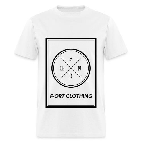 F-ORT BIG BOX LOGO WHITE T-Shirt - Men's T-Shirt