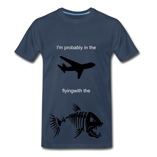 Flying with the Fishes - Men's Premium T-Shirt