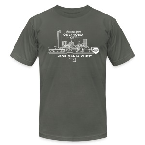 OKC Skyline - Mens - Men's T-Shirt by American Apparel