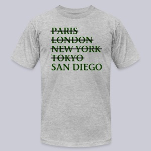 Paris London Nyc Tokyo San Diego - Men's T-Shirt by American Apparel