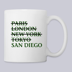 Paris London Nyc Tokyo San Diego - Coffee/Tea Mug