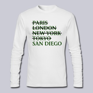 Paris London Nyc Tokyo San Diego - Men's Long Sleeve T-Shirt by Next Level