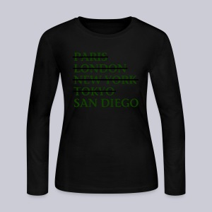Paris London Nyc Tokyo San Diego - Women's Long Sleeve Jersey T-Shirt