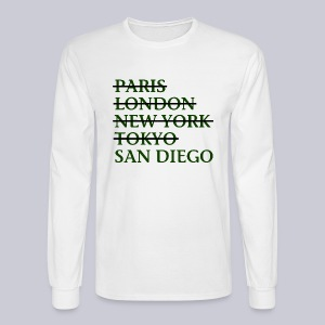 Paris London Nyc Tokyo San Diego - Men's Long Sleeve T-Shirt