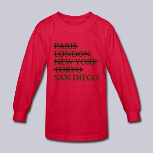 Paris London Nyc Tokyo San Diego - Kids' Long Sleeve T-Shirt