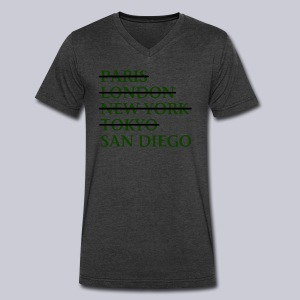 Paris London Nyc Tokyo San Diego - Men's V-Neck T-Shirt by Canvas