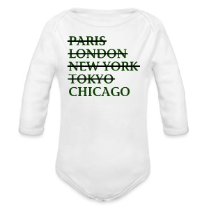 Paris London Nyc Tokyo Chicago - Long Sleeve Baby Bodysuit