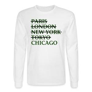 Paris London Nyc Tokyo Chicago - Men's Long Sleeve T-Shirt