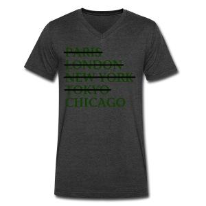 Paris London Nyc Tokyo Chicago - Men's V-Neck T-Shirt by Canvas