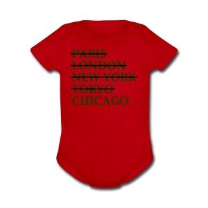Paris London Nyc Tokyo Chicago - Short Sleeve Baby Bodysuit