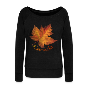 Women's Canada Sweatshirt Maple Leaf Souvenir Shirt - Women's Wideneck Sweatshirt