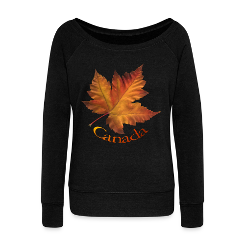 Women's Canada Sweatshirt Maple Leaf Souvenir Shirt - Women's Wideneck Sweatshirt