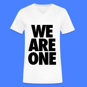 We Are One T-Shirts - Men's V-Neck T-Shirt by Canvas