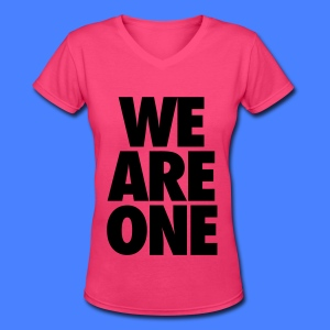 We Are One Women's T-Shirts - Women's V-Neck T-Shirt
