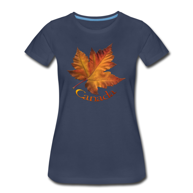 Women's Canada T-shirt Plus Size Maple Leaf Souvenir T-shirts