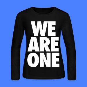 We Are One Long Sleeve Shirts - Women's Long Sleeve Jersey T-Shirt