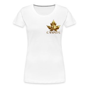 Women's Canada T-shirt Gold Medal Canada T-shirt Plus Size - Women's Premium T-Shirt