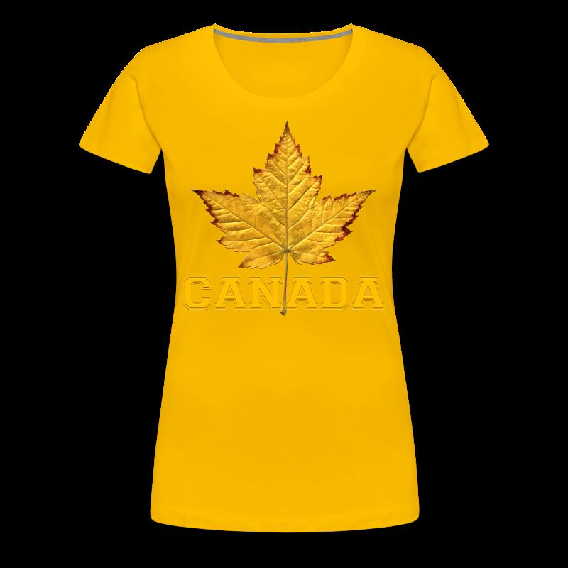 Women's Canada T-Shirt Plus Size Varsity Canada Souvenir Shirts - Women's Premium T-Shirt