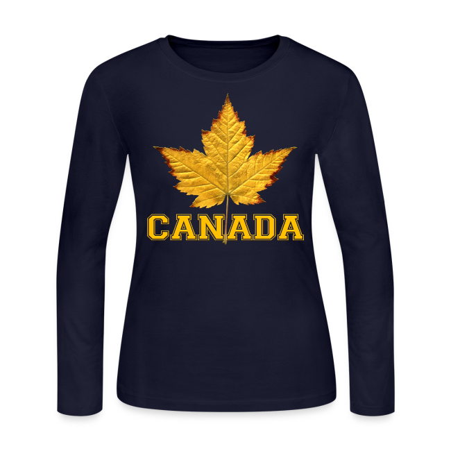 Women's Canada Shirt Varsity Canada Souvenir Long Sleeve Shirts