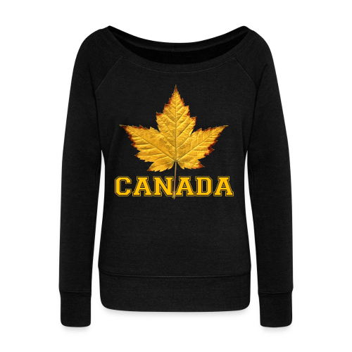 Women's Canada Shirt Varsity Canada Souvenir Sweatshirts - Women's Wideneck Sweatshirt