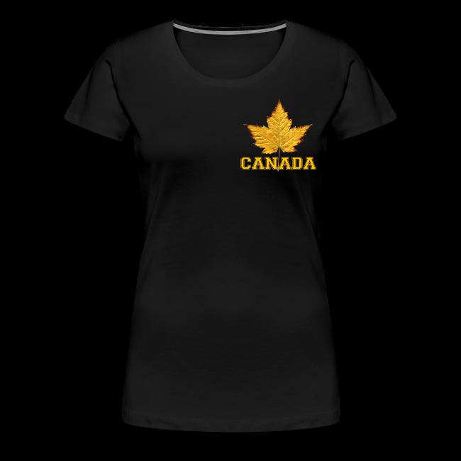 edf9dfbedfe Women s Canada T-Shirt Plus Size Varsity Canada Souvenir Shirts