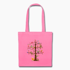 colorful animals on a tree  Bags & backpacks