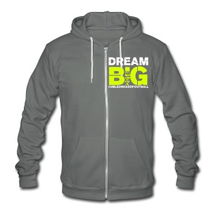 2014 Jim Leonhard Football Skills Camp - Unisex Fleece Zip Hoodie by American Apparel