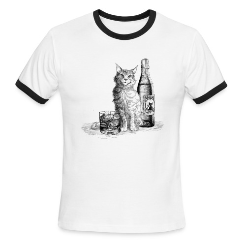 Bourbon Cat (ringer) - Men's Ringer T-Shirt
