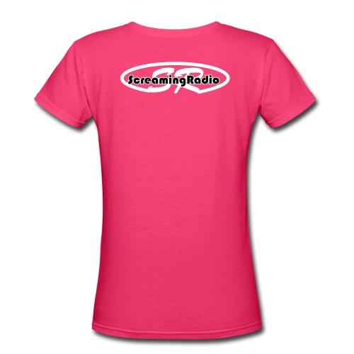 Im a Screamer ladies t-shirt - Women's V-Neck T-Shirt