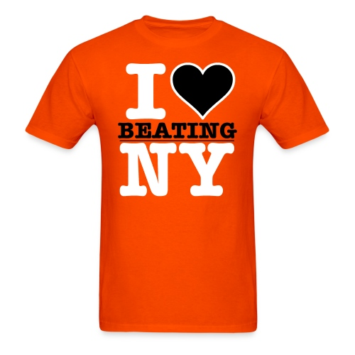 I Heart BEATING New York - Men's T-Shirt