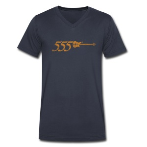 555 - Men's V-Neck T-Shirt by Canvas